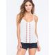 CHLOE K Embroidered Womens Tank