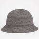 BLACK SCALE Scale Of Black Mens Bucket Hat