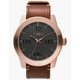 NIXON Corporal Rose Gold & Brown Watch