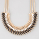 FULL TILT Braided Faux Leather Statement Necklace
