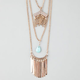 FULL TILT 3 Row Sticks Necklace