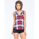 POLLY & ESTHER Hooded Challis Womens Flannel Tank