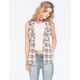 POLLY & ESTHER Hooded Womens Flannel Tank