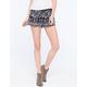 ANGIE Smocked Waist Border Print Womens Shorts