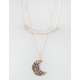 FULL TILT Love You to the Moon 2 Row Necklace