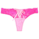Mesh Galloon Laceup Thong