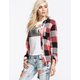 POLLY & ESTHER Womens Basic Flannel Shirt