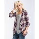 FULL TILT Plaid Womens Wrap Shirt