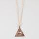 BLUE CROWN Pyramid Eye Necklace