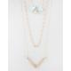 FULL TILT Chevron Stone Layered Necklace