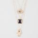 FULL TILT Hamsa 3 Row Necklace