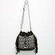 Ethnic Print Fringe Bucket Bag