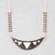 FULL TILT Crescent Chevron Necklace