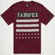 FAMOUS STARS & STRAPS Bar Stars Mens T-Shirt
