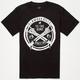 GLAMOUR KILLS Cross Bones Mens T-Shirt