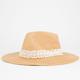 Crochet Band Womens Straw Panama Hat
