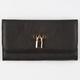 Faux Leather Locket Snap Wallet