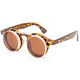BLUE CROWN Round Flip Sunglasses