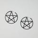 FULL TILT Pentagram Earrings