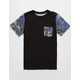 BLUE CROWN Geo Space Age Boys Pocket Tee