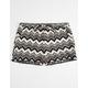 FULL TILT Chevron Print Crochet Trim Girls Shorts