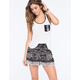 PATRONS OF PEACE Smocked Womens Shorts