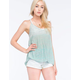 FULL TILT Marled Open Back Womens Tank