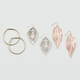 FULL TILT Leaf Earring Trio