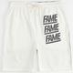 HALL OF FAME Split Block Mens Sweat Shorts