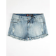 SCISSOR Destructed Girls Cutoff Denim Shorts