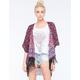 FULL TILT Border Print Womens Kimono