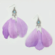 FULL TILT Contrast Bead Feather Earrings