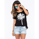 FULL TILT LA Palm Tree Tie Side Womens Tee