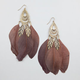 FULL TILT Filigree Teardrop Feather Earrings
