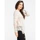 BLU PEPPER Lace Side Womens Sweater