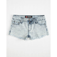 SCISSOR Acid Wash Girls Knit Denim Shorts