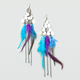 FULL TILT Chandelier Feather Earrings