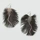 FULL TILT Fluffy Feather Earrings