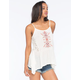 OTHERS FOLLOW Lace Inset Womens Sharkbite Tank