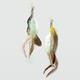 FULL TILT Fireball Feather Chain Earrings