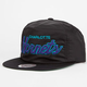 MITCHELL & NESS Charlotte Hornets Mens Zipback Hat