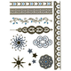 Filigree/Sun Metallic Temporary Tattoos