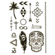 Sugar Skull Metallic Temporary Tattoos