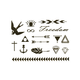 Bird Metallic Temporary Tattoos