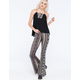 FULL TILT Floral Ethnic Print Womens Flare Pants