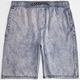 CHARLES AND A HALF Acid Wash Mens Shorts