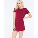 SOCIALITE Solid T-Shirt Dress