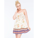 CHLOE K Floral Border Print Dress