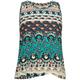 FULL TILT Paisley Print Girls Crochet Trim Tank