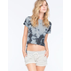 FULL TILT Tie Dye Side Tie Womens Tee